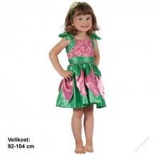 Kostým na karneval - Květinová víla 92-104cm